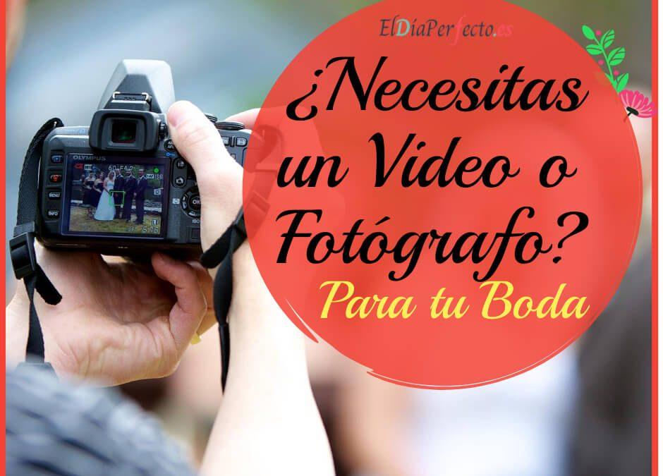 ¿Necesitas un videógrafo y un fotógrafo de bodas?